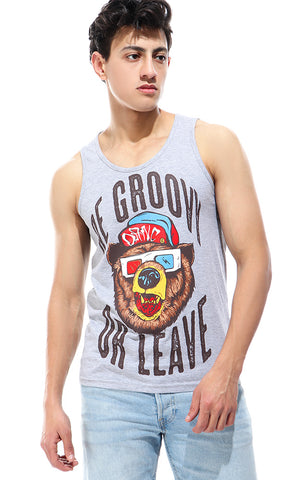 47421 Be Grovy-Sleeveless Tank Top - Grey