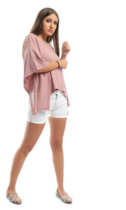 47570 Floral Modern Shirt With Circular End Sleeves - Beige