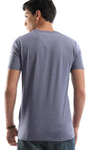 47653 Lost In Nature Casual Blue Tee