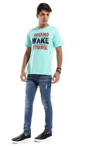 47825 Dreams Rounded Heavy Men T-shirt - Mint Green