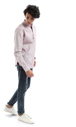47911 Casual Light Orchid Long Sleeve Shirt