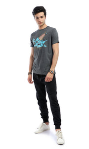 47995 Iam Melting-Short Sleeves Slip On Heather Charcoal Grey T-shirt