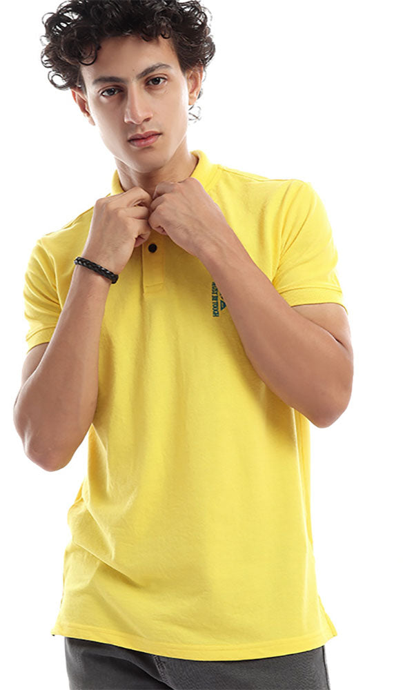 Sticthed Polo Yellow Shirt