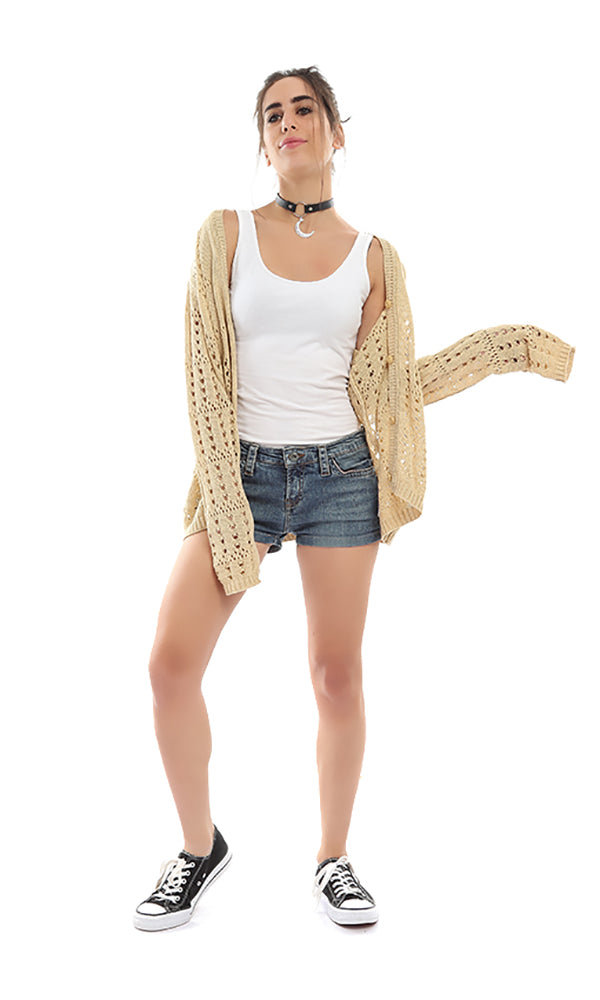 Cut-Out Cardigan