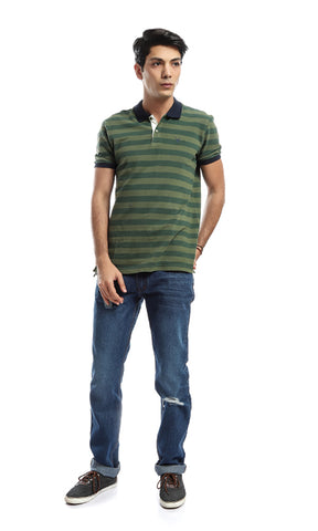 48151 Striped T-shirt - Olive