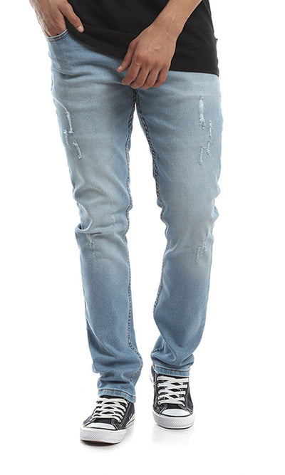 48571 Slim Fit Ripped Jeans - Pale Blue