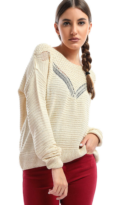 48589 Beige Cool Winter Pullover