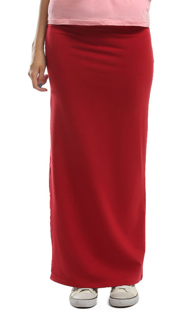 48691 Slim Fit Skirt - Firebrick