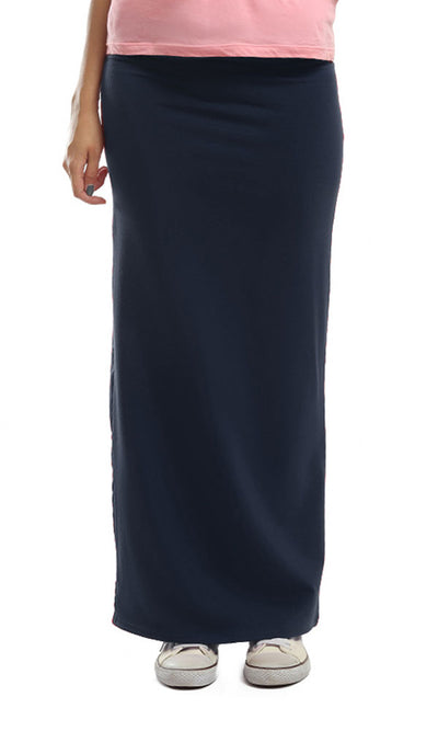 48692 Slim Fit Skirt - Dark Blue
