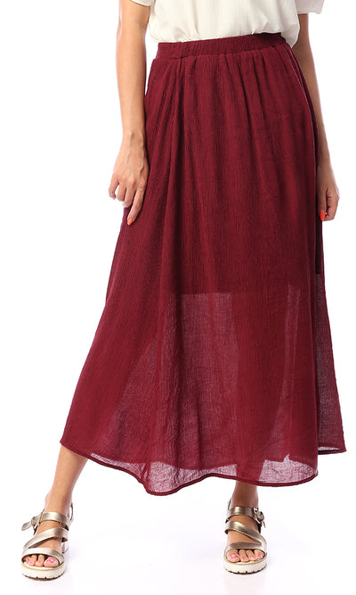48744 King Harbor Burgundy Maxi Skirt