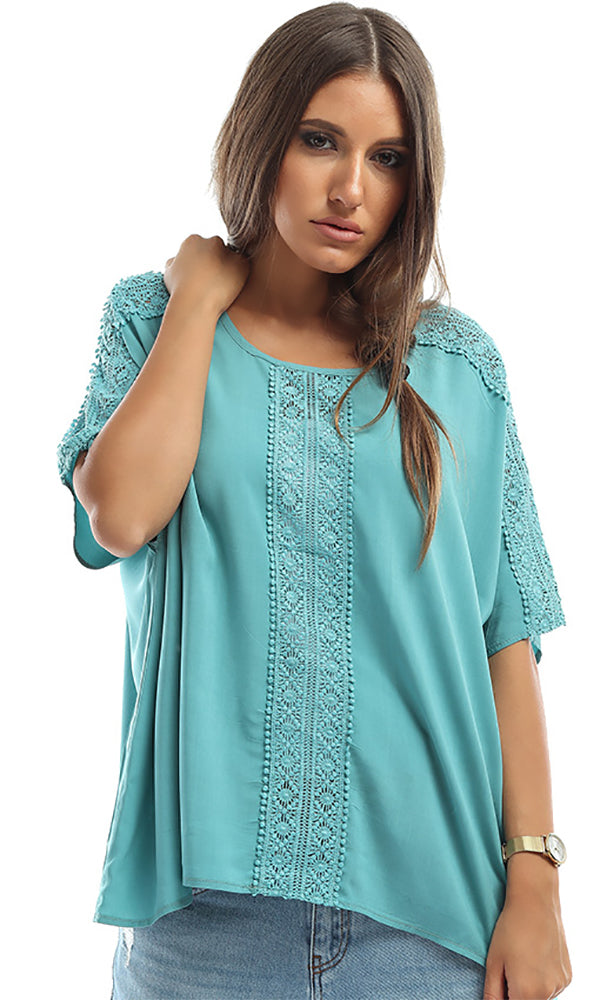 Lace Panels Oversize Top