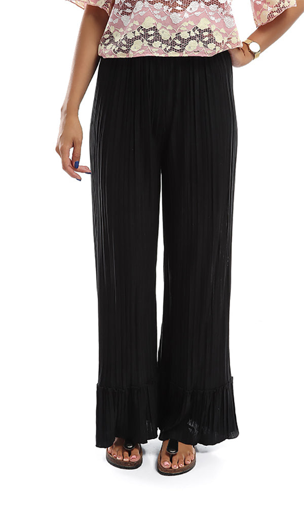 Loose Women Trousers - Black