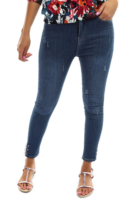 48808 Skinny Casual Women Jeans - Blue