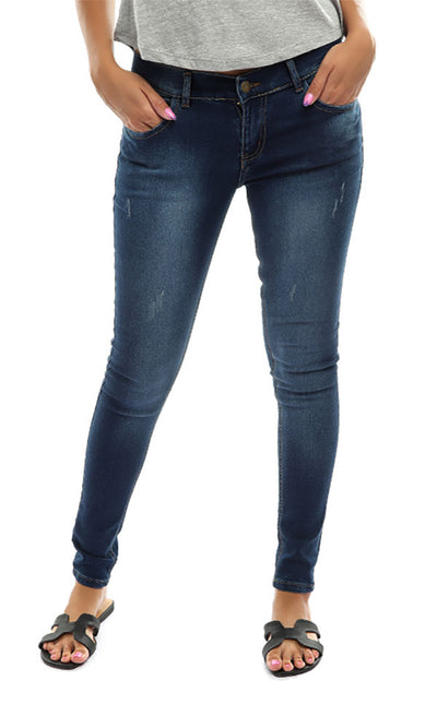 48810 Women Jeans Solid Pants - Blue