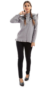 Pursuit Long Sleeve Top - Taupe