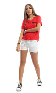 48867 Be The Boss Red Tee