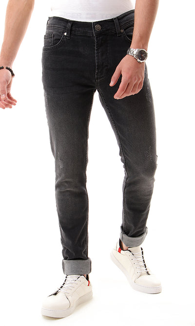 48884 Ripped Casual Men Jeans - Dark Grey