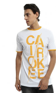 CairoKee Collection Unisex Casual Printed T-shirt - White