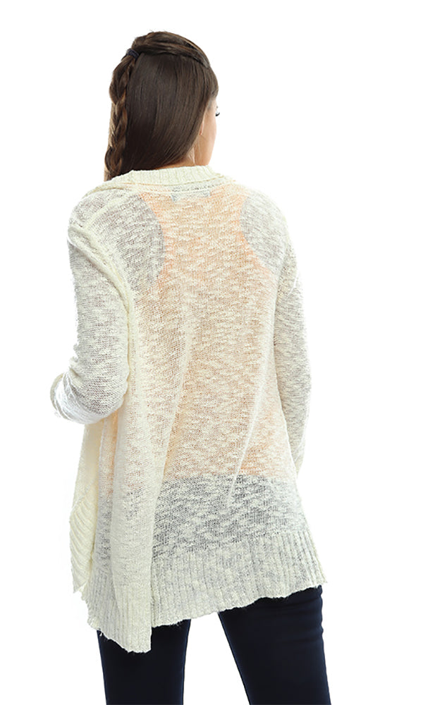 Long Sleeves Cardigan - Cream