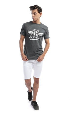 White Slim Fit Chino Shorts