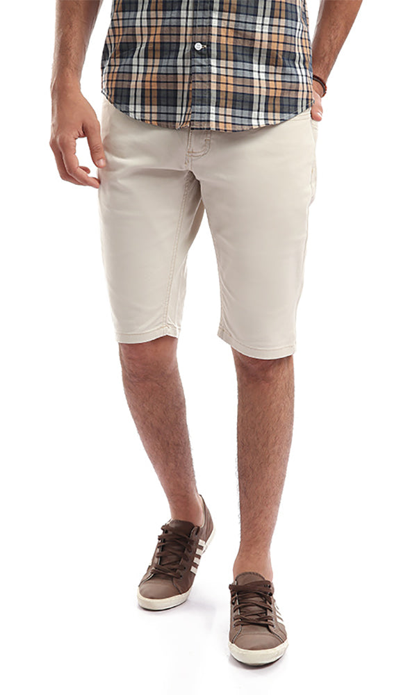 Off White Slim Fit Chino Shorts