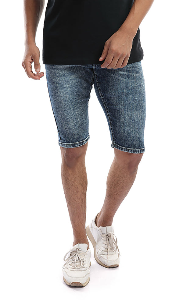 Casual Washed Blue Jeans Short