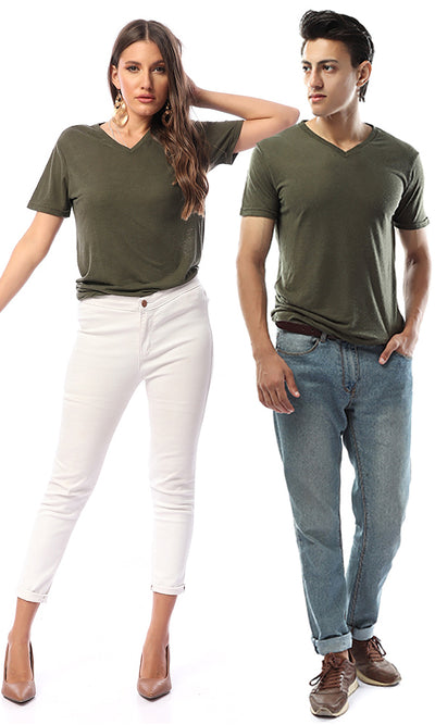 49205 Solid Men Basic T-Shirt - Olive
