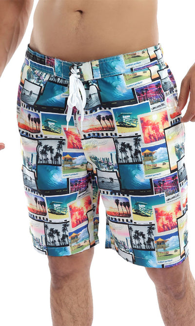 49258 Summer Getaway Colourful Swimshorts