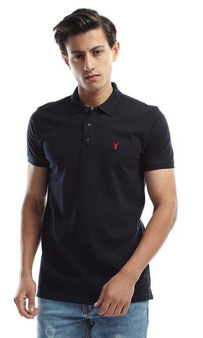 49300 Short Sleeves Solid Polo Tee - Navy Blue
