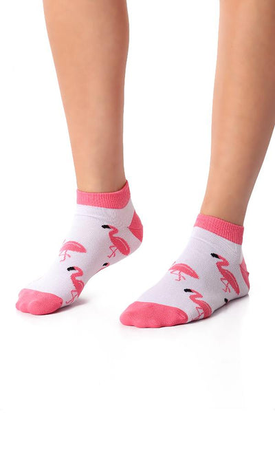 49513 Flamingo Slip On Liner Socks - White - Ravin