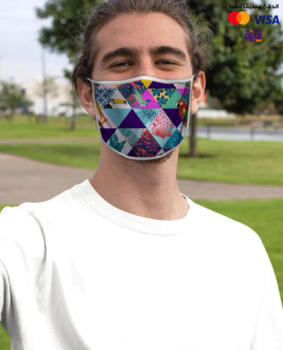 Tropical Birds Custom Face Mask - Ravin