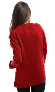 50141 Wonderful Winter Love Red Pullover