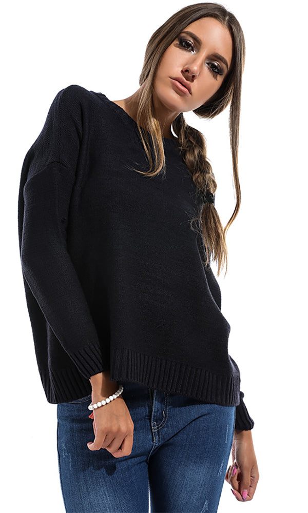 Comfy Women Pullover - Navy Blue