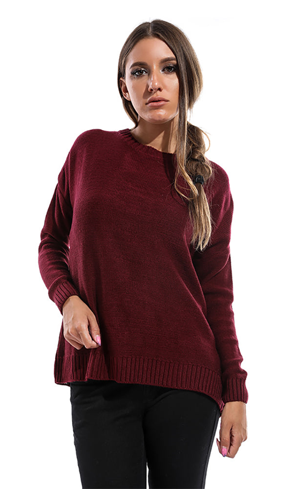 Comfy Women Pullover - Burgundy