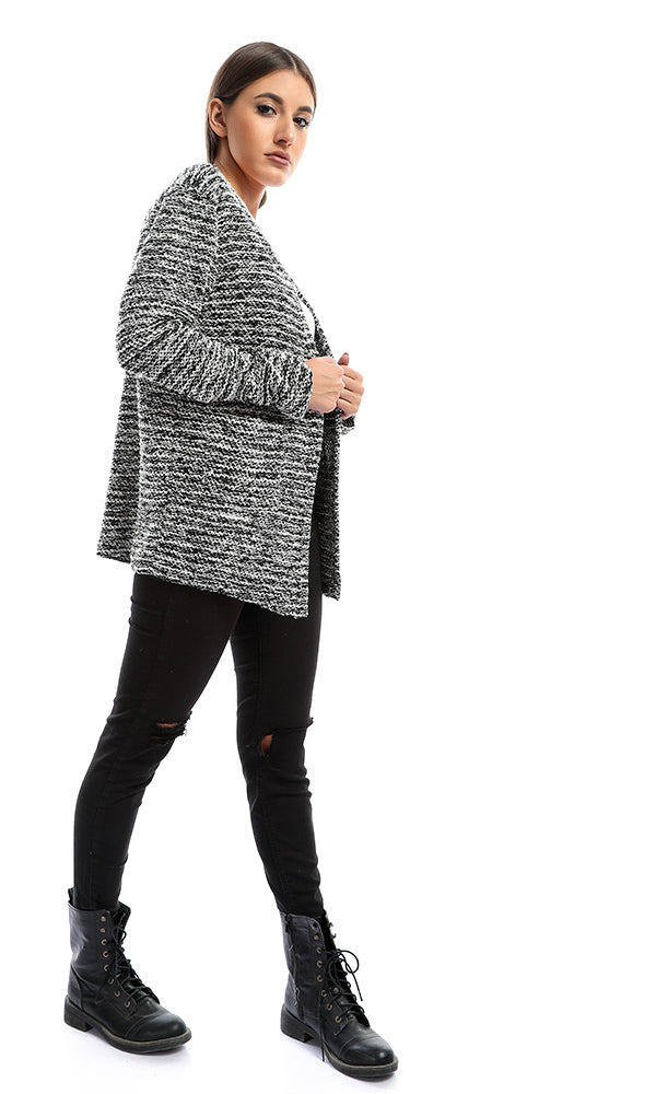 At Home Black Chenille Short Cardigan