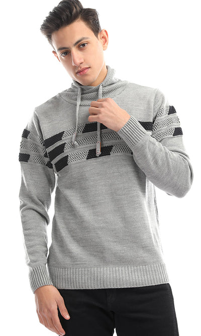 50328 Unparalleled Knitted Grey Pullover