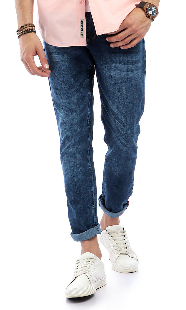 Washed Denim Jeans - Light Blue