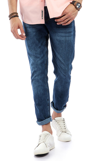 50825 Slim Fit With Light Wash Out Dark Blue Jeans