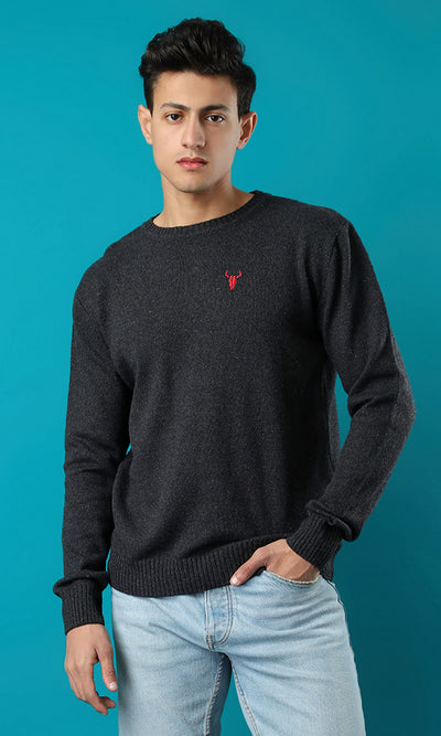 50903 Basic Heather Dark Grey Pullover