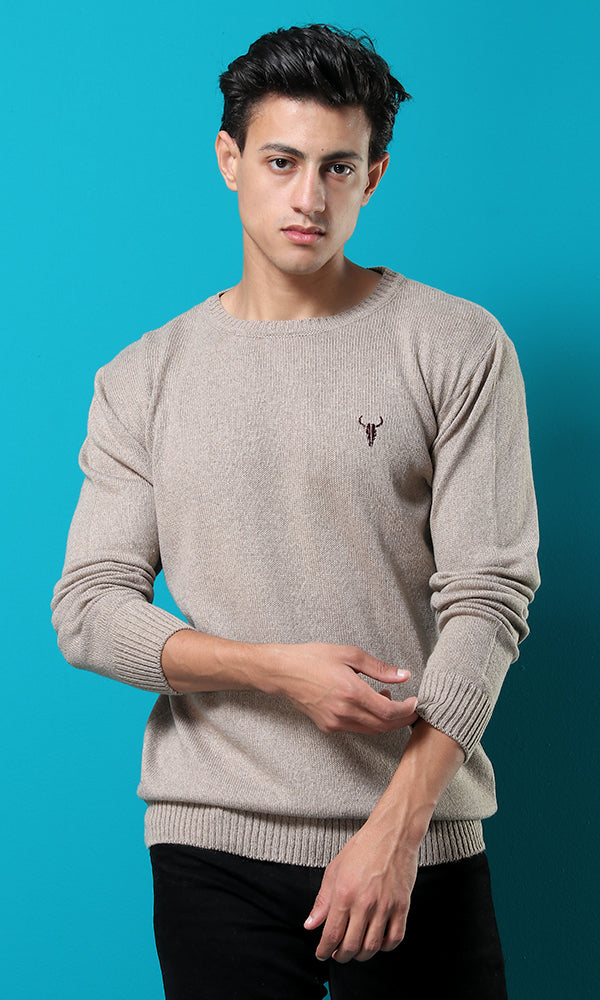 50904 Scoop Solid Winter Light Coffee Basic Pullover