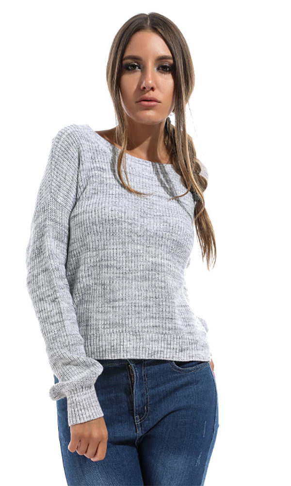 Solid Women Pullover - Hearher Grey