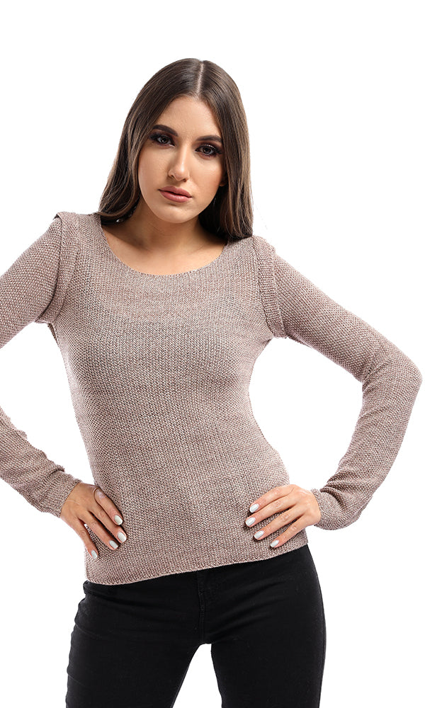 Glittery Beige Pullover
