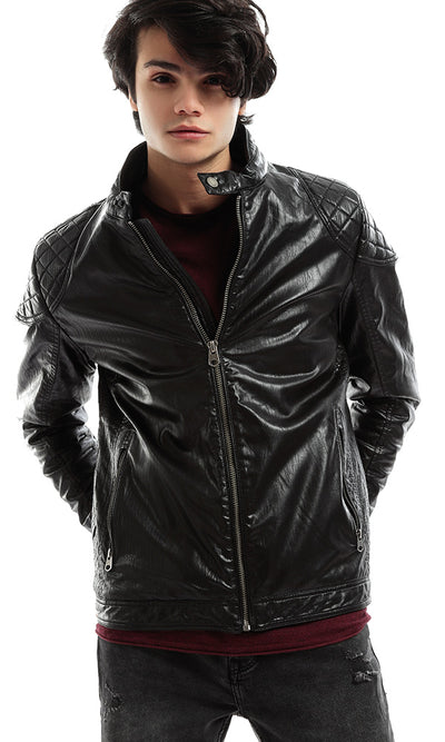 51118 CairoKee Collection Quilted Panels Black Jacket