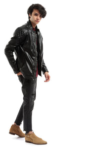 CairoKee Collection Quilted Panels Black Jacket