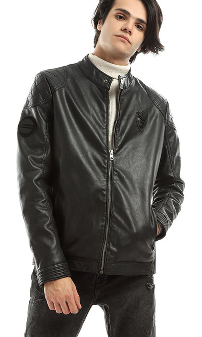 51119 Amazing Winter Zipped Men Jacket - Black