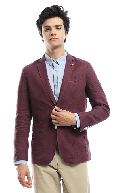 51182 Notched Chic Maroon Blazer
