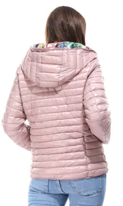 Double Face Puffer Dusty Rose Jacket