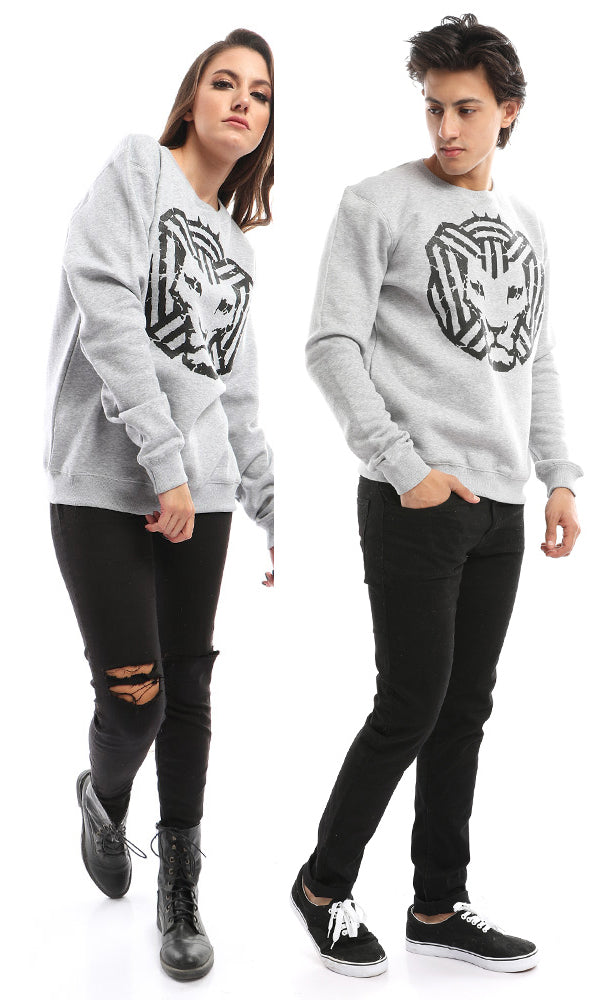 'Cairokee '' Casual Printed Grey Sweatshirt