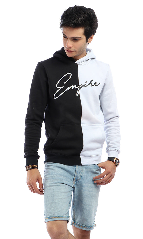 Cairokee Empire Collection Bi-Tone Casual Sweatshirt - White & Black