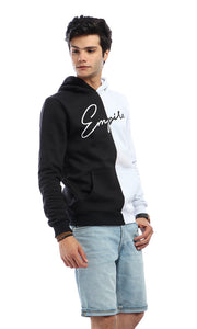 CairoKee Collection Bi-Tone Kangaroo Pocket Slip On Sweatshirt - White & Black